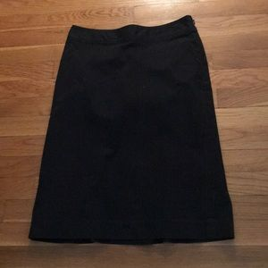 Gap pencil skirt with pinstripes